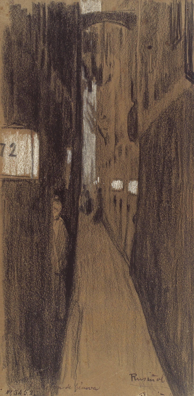Santiago Rusiñol - Un carreró de Gènova - 1894