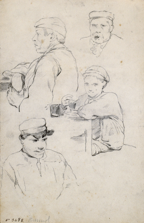 Santiago Rusiñol - Estudi de figures - Cap a 1883