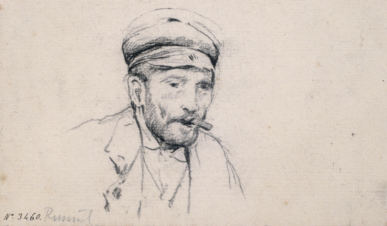 Santiago Rusiñol - Estudi de cap masculí - Cap a 1880-1885
