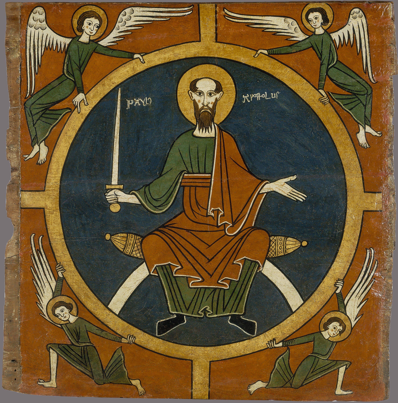 Anònim. Catalunya. Taller de la Seu d'Urgell del 1200 - Lateral d'altar d'Aurós. Sant Pau - Segon quart del segle XIII