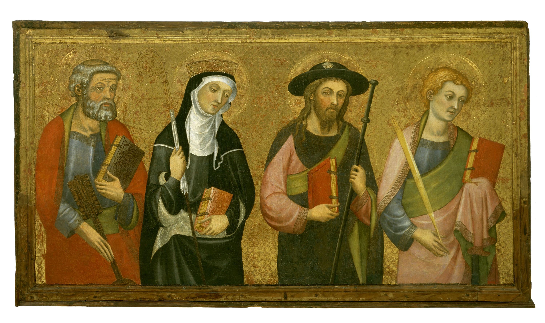 Pere Serra - Sant Pere, Santa Clara, Sant Jaume el Major, Sant Joan Evangelista - Cap a 1385