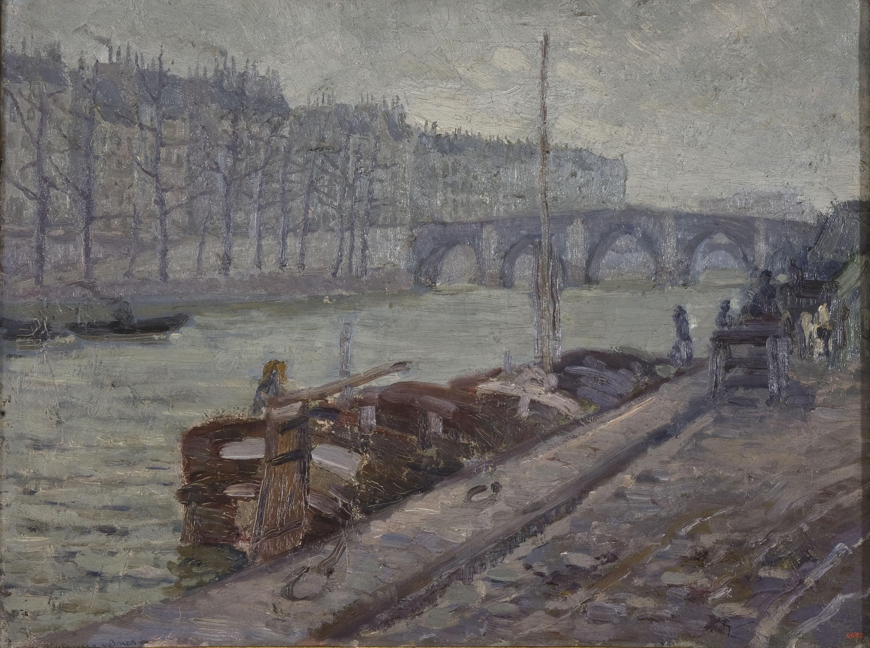 Marià Pidelaserra - El Sena en día gris - París, hacia 1900-1901
