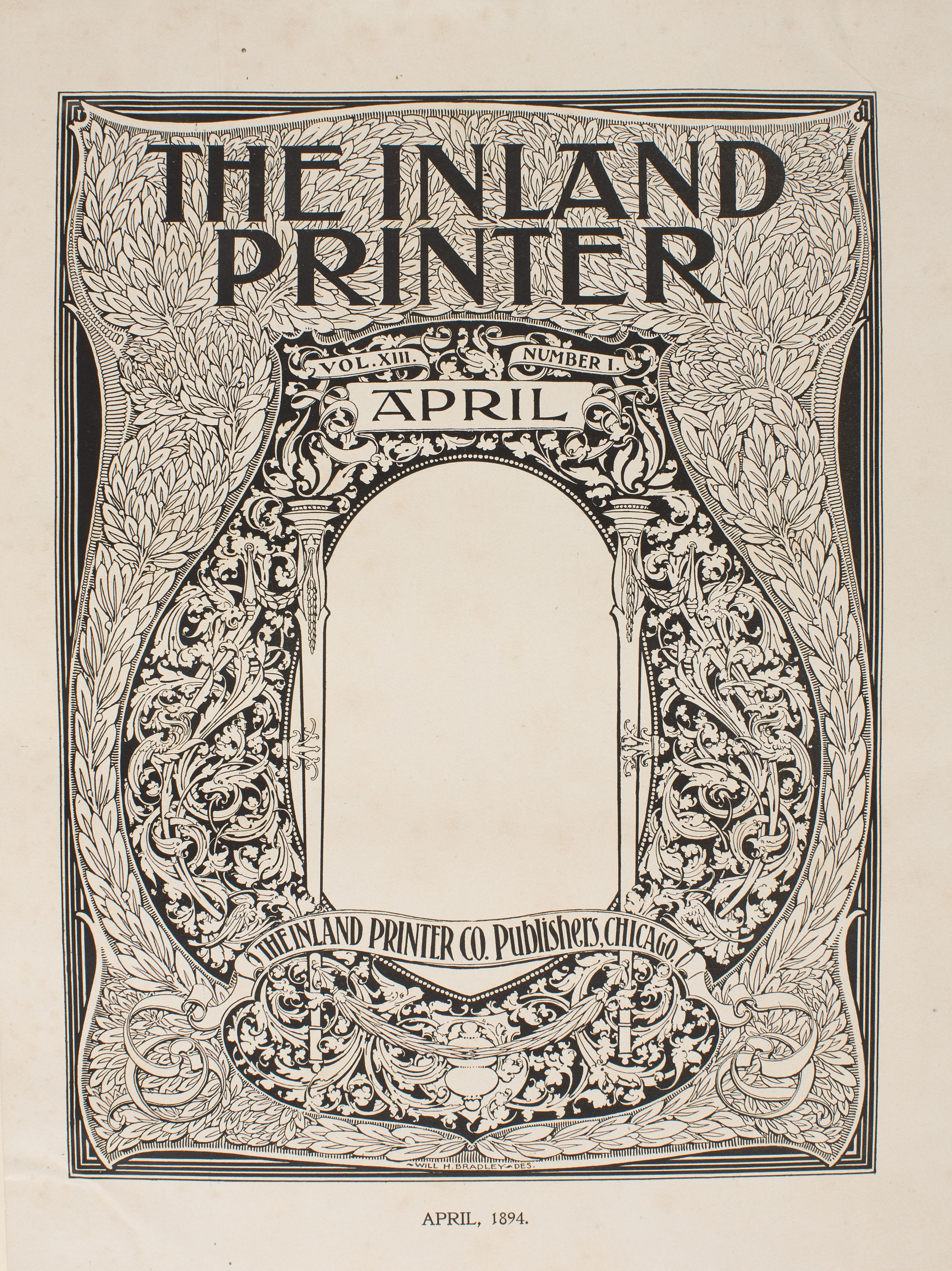 William Henry Bradley - The Inland Printer. April - 1894