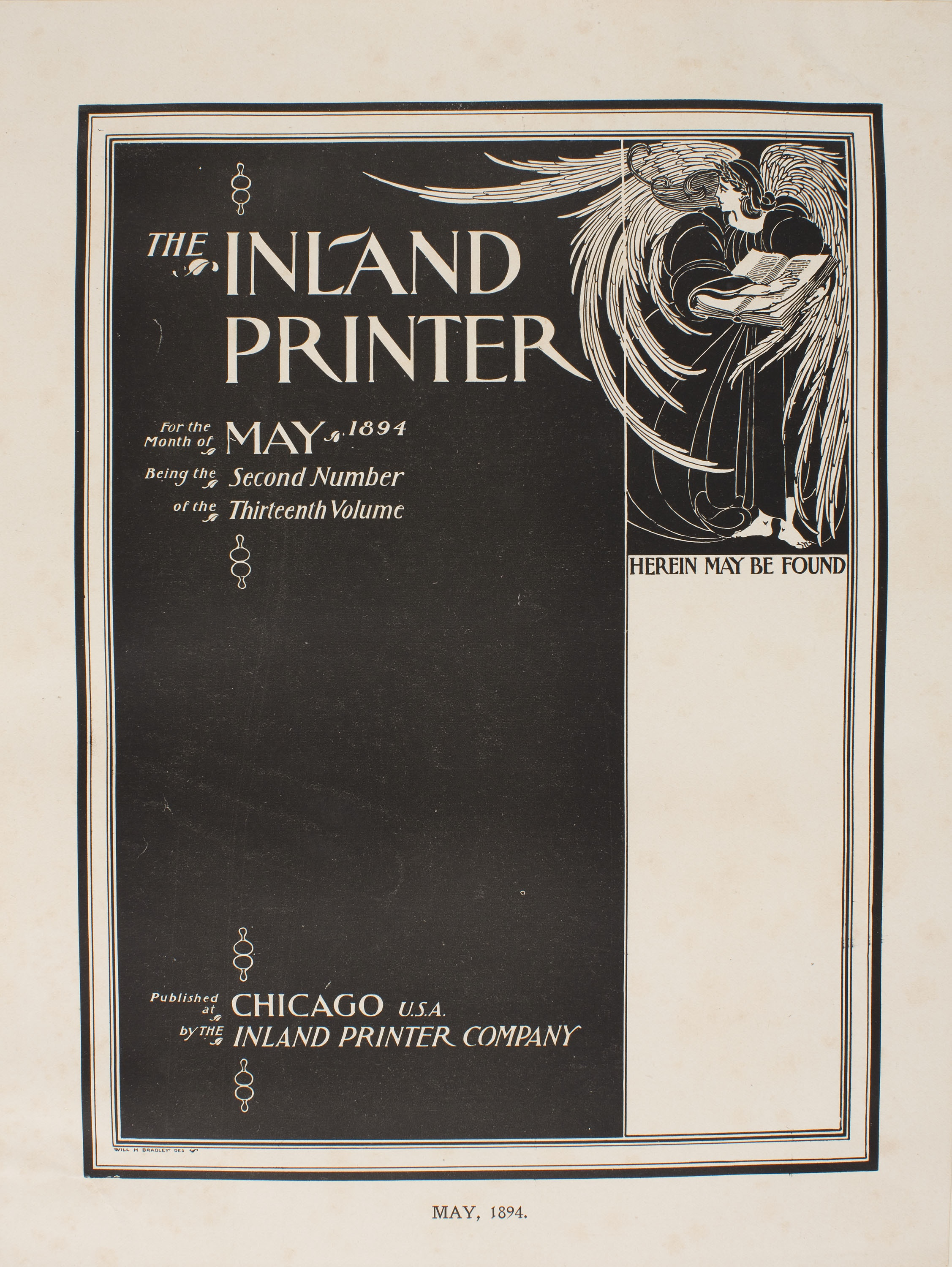 William Henry Bradley - The Inland Printer For the Month of May 1894 - 1894