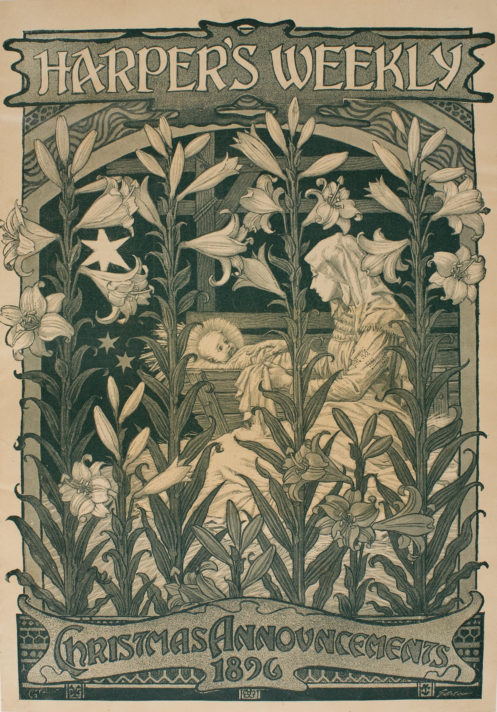 Eugène Samuel Grasset - Harper's Weekly. Christmas Announcements 1896 - 1896