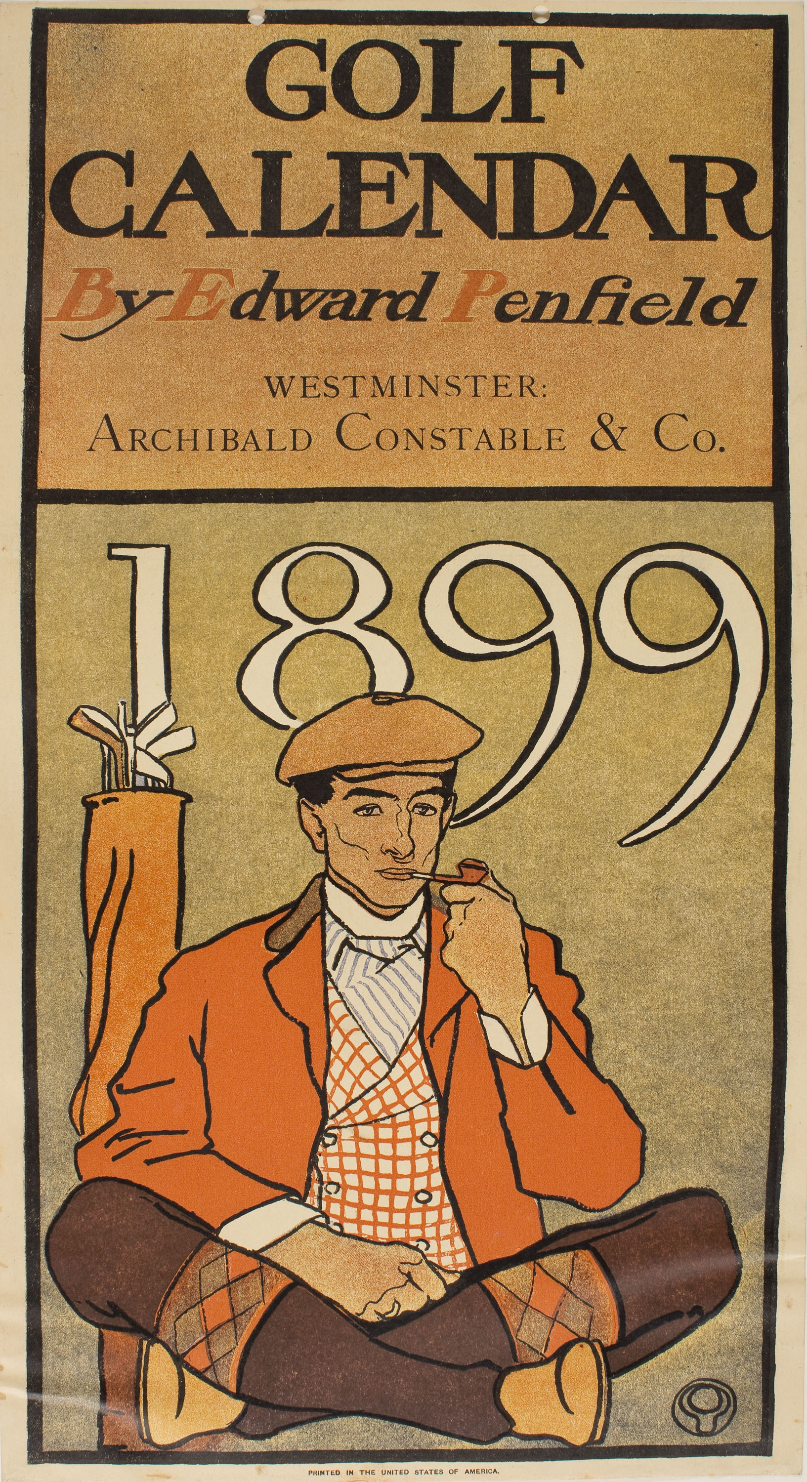 Edward Penfield - Golf Calendar - 1899