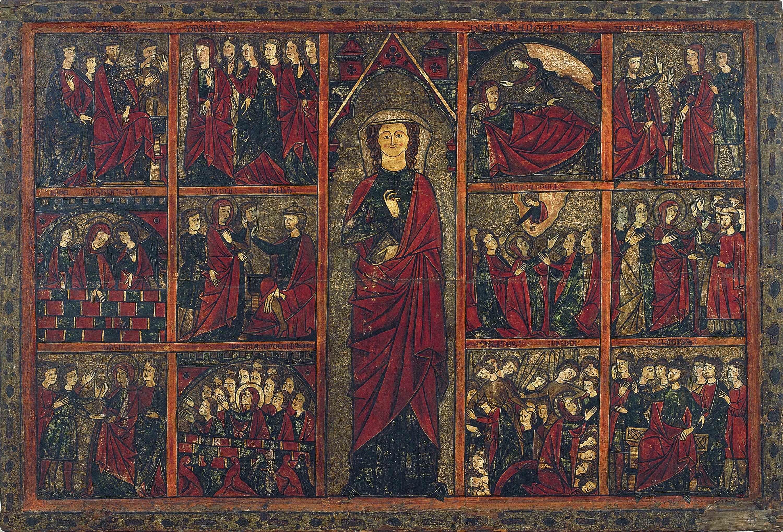 Segon Mestre de Bierge - Taula de santa Úrsula - Cap a 1300