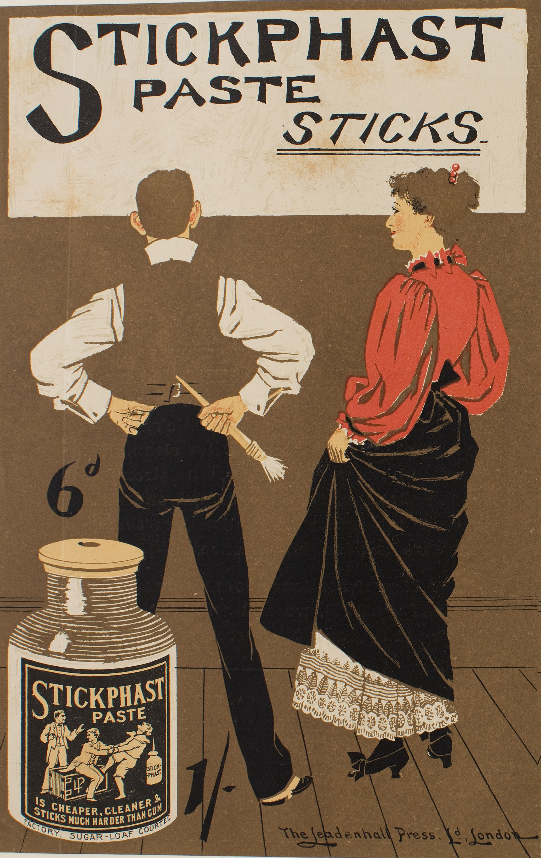 Philip William May - Stickphast paste - Cap a 1896