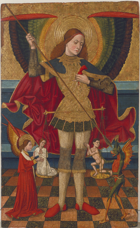 Juan de la Abadía (el Vell) - Sant Miquel pesant les ànimes - Cap a 1480-1495