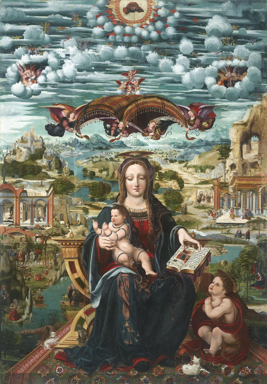 Joan de Burgunya - Mare de Déu amb el Nen i sant Joanet - Entre 1515-1525