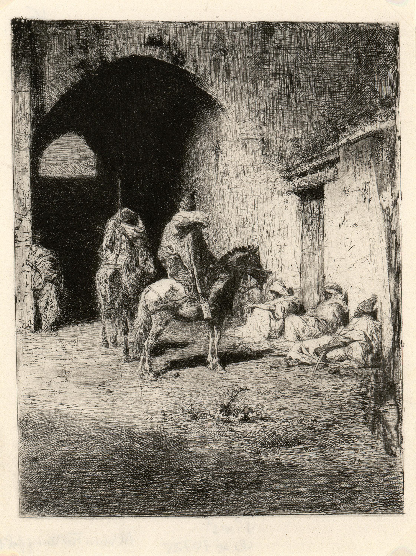 Marià Fortuny - Guàrdia de la qasba a Tetuan - Cap a 1861