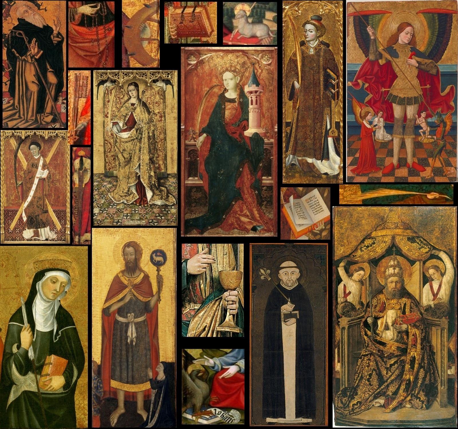 Quien es quien. Santos y protagonistas de la colección de arte gótico - itinerario virtual
