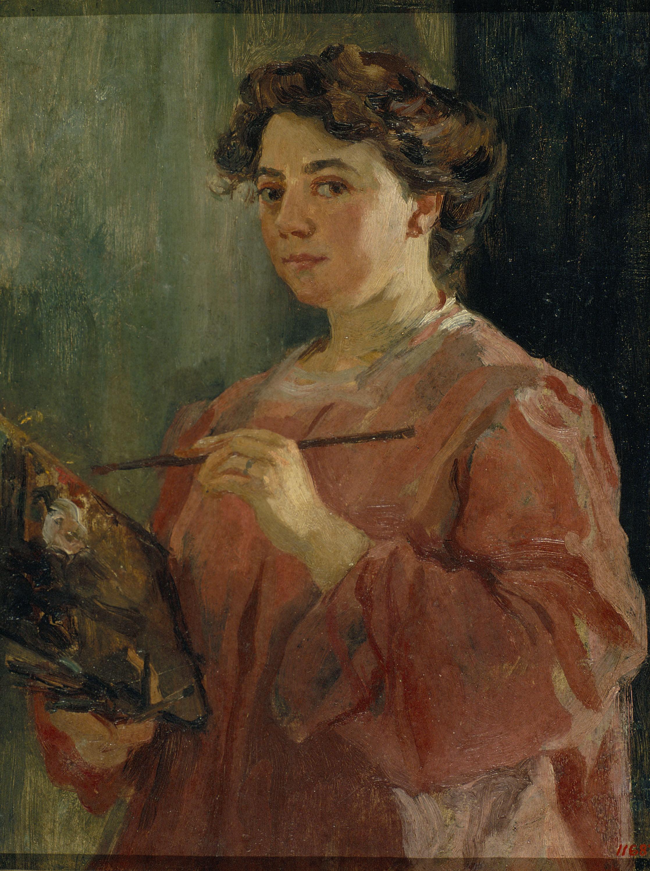 Autorretrat, Lluïsa Vidal, 1899