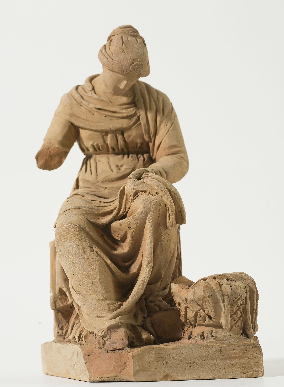 Damià Campeny - Dona cosint - Cap a 1815-1840 [1]