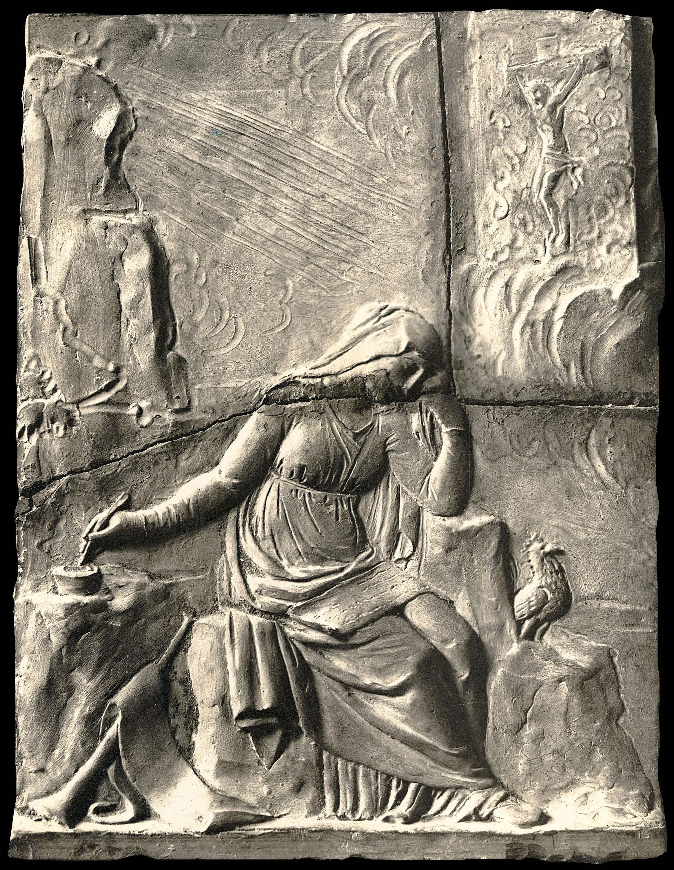 Damià Campeny - La Fama escrivint la història de Crist: Crist crucificat - Cap a 1816