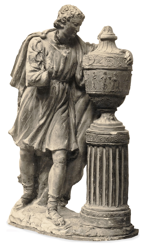 Damià Campeny - Home recolzant-se en un gerro funerari - Cap a 1805-1815
