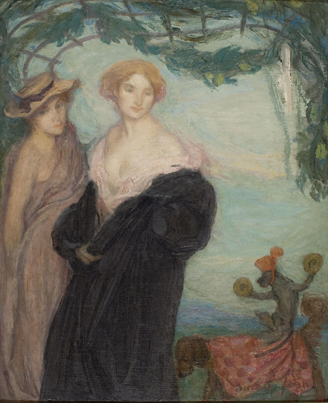Edmond-François Aman-Jean - Las dos amigas - Hacia 1907