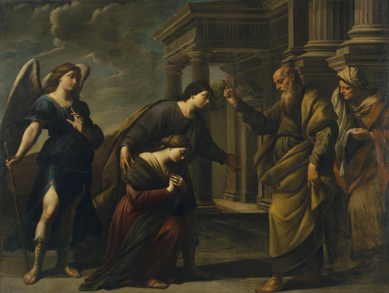 Andrea Vaccaro - Benedicció de Ragüel a la seva filla Sara abans de partir d'Ecbàtana amb Tobies - 1667