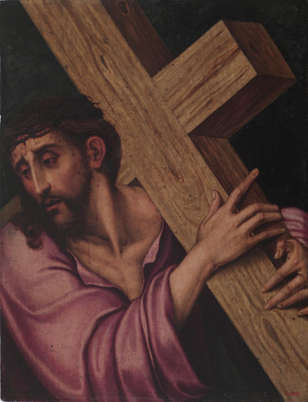 Luis de Morales (El Divino) - Crist amb la Creu - Entre 1560-1565