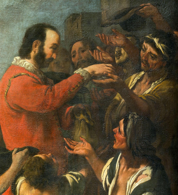 Bernat de Quintaval reparteix els seus béns als pobres