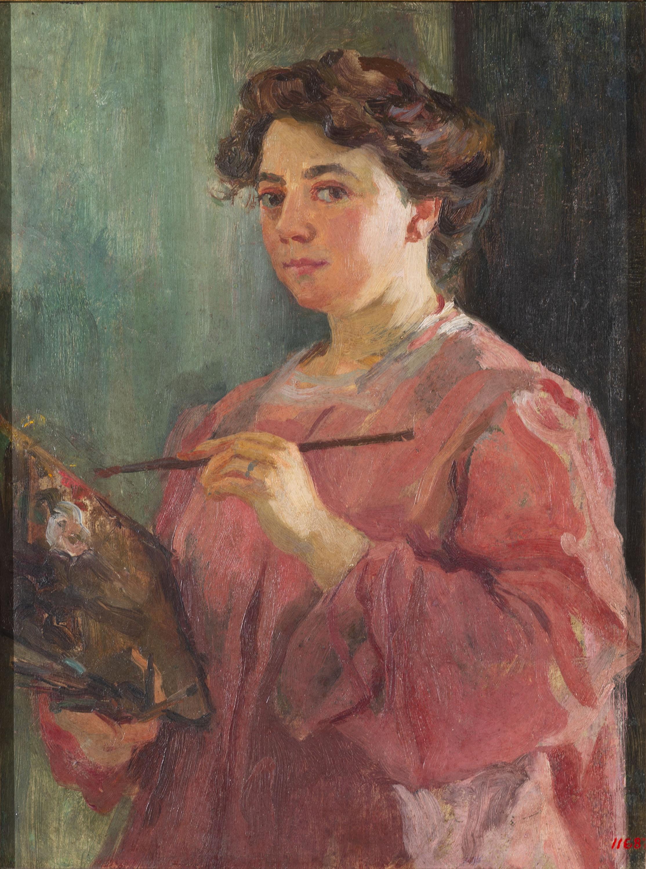 Lluïsa Vidal - Autoretrat - Cap a 1899
