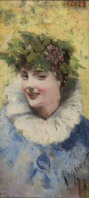 Alexandre de Riquer - Bust femení - Cap a 1890-1897