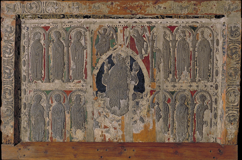 Anònim. Catalunya. Taller de la Seu d'Urgell del 1200 - Frontal d'altar d'Esterri de Cardós - 1225