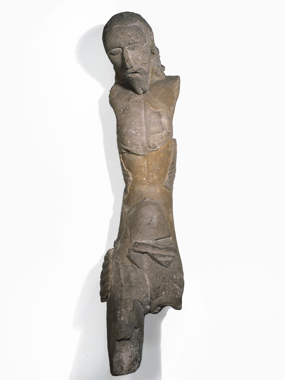 Anònim - Crist en estuc de Sant Martí Sarroca - Segle XIV