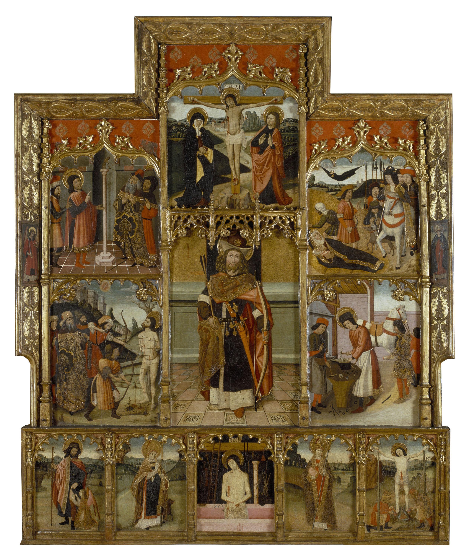 Grup Vergós - Retaule de sant Sebastià i sant Eloi - Cap a 1500
