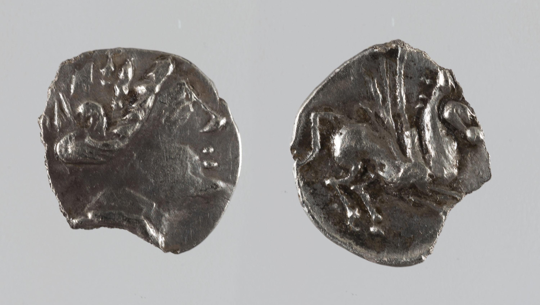 Anònim - Fracció de dracma ibèrica d'imitació d'Emporion - Finals del segle III aC
