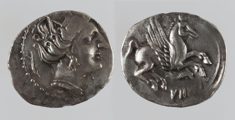 Ibèrica indeterminada - Dracma ibèrica d'imitació - Finals del segle III aC