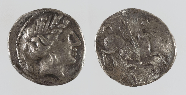 Ibèrica indeterminada - Dracma d'imitació ibèrica d'Emporion - Finals del segle III aC