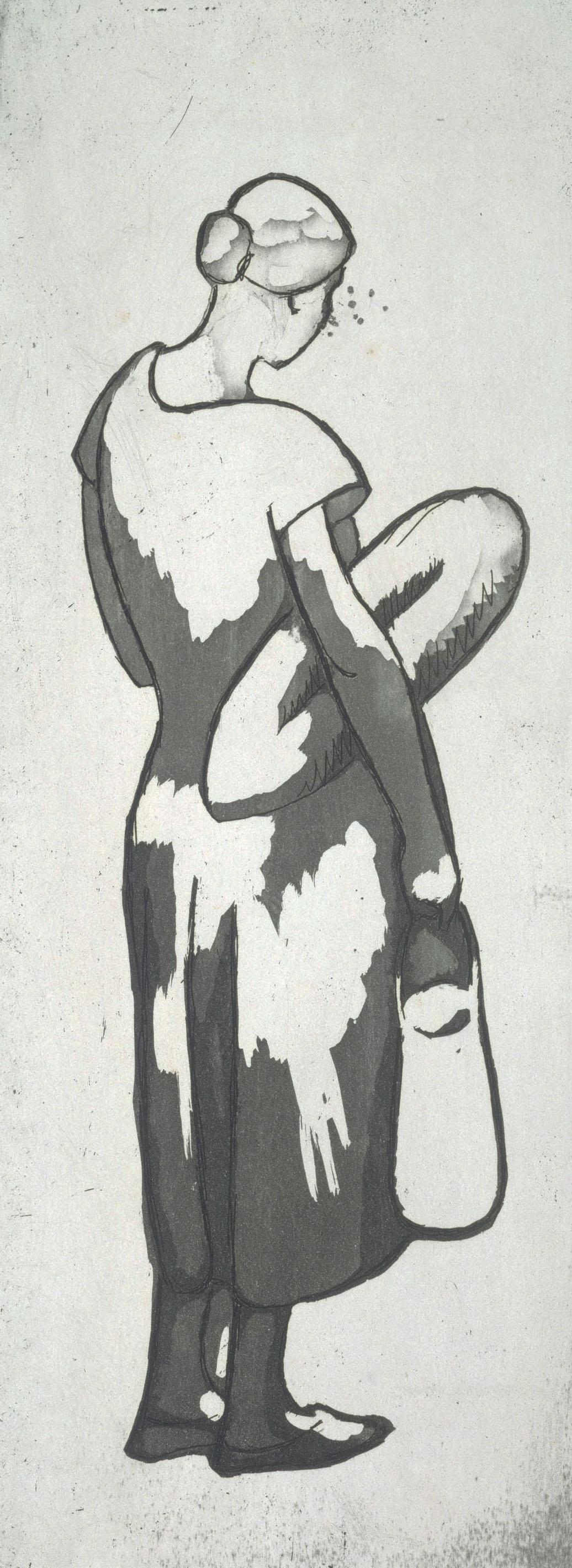 Juli González - Dona tornant del mercat, núm. 1 (Femme revenant du marché, no. 1) - 1927