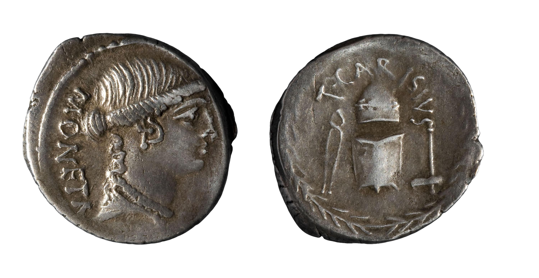 República romana - Denari de la República romana - 46 aC