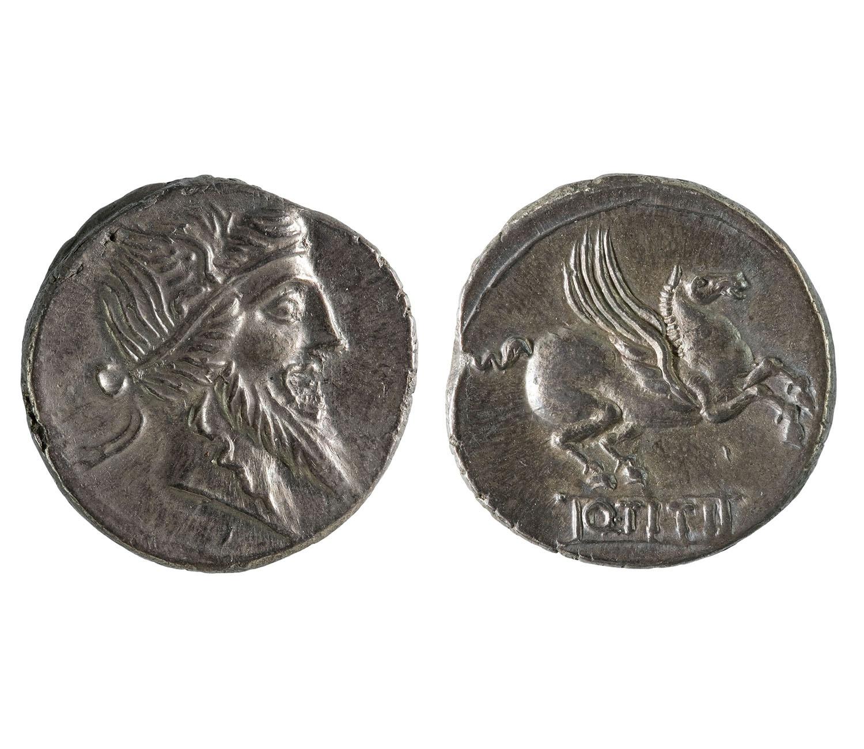 República romana, denari, 90 aC (MNAC/GNC 021992-N) Gabinet Numismàtic de Catalunya del Museu Nacional d'Art de Catalunya, Barcelona