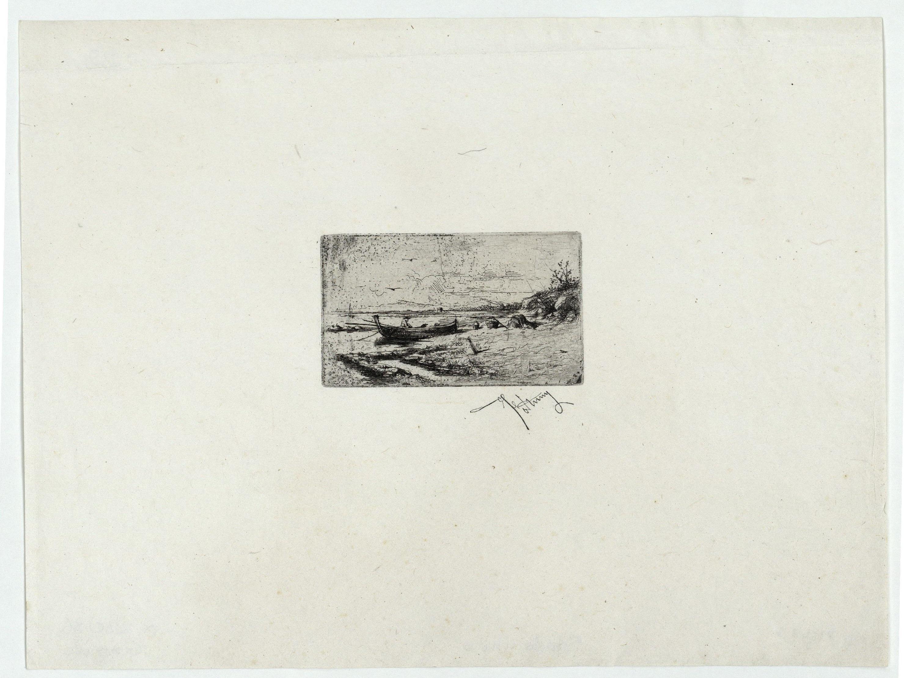 Marià Fortuny - Barca a la platja - [no-dating]