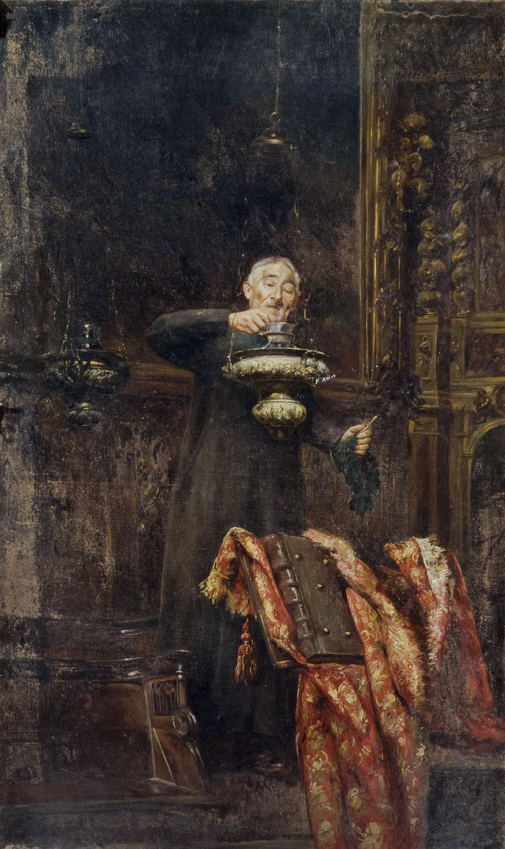 Romà Ribera - Vell sagristà - Cap a 1897