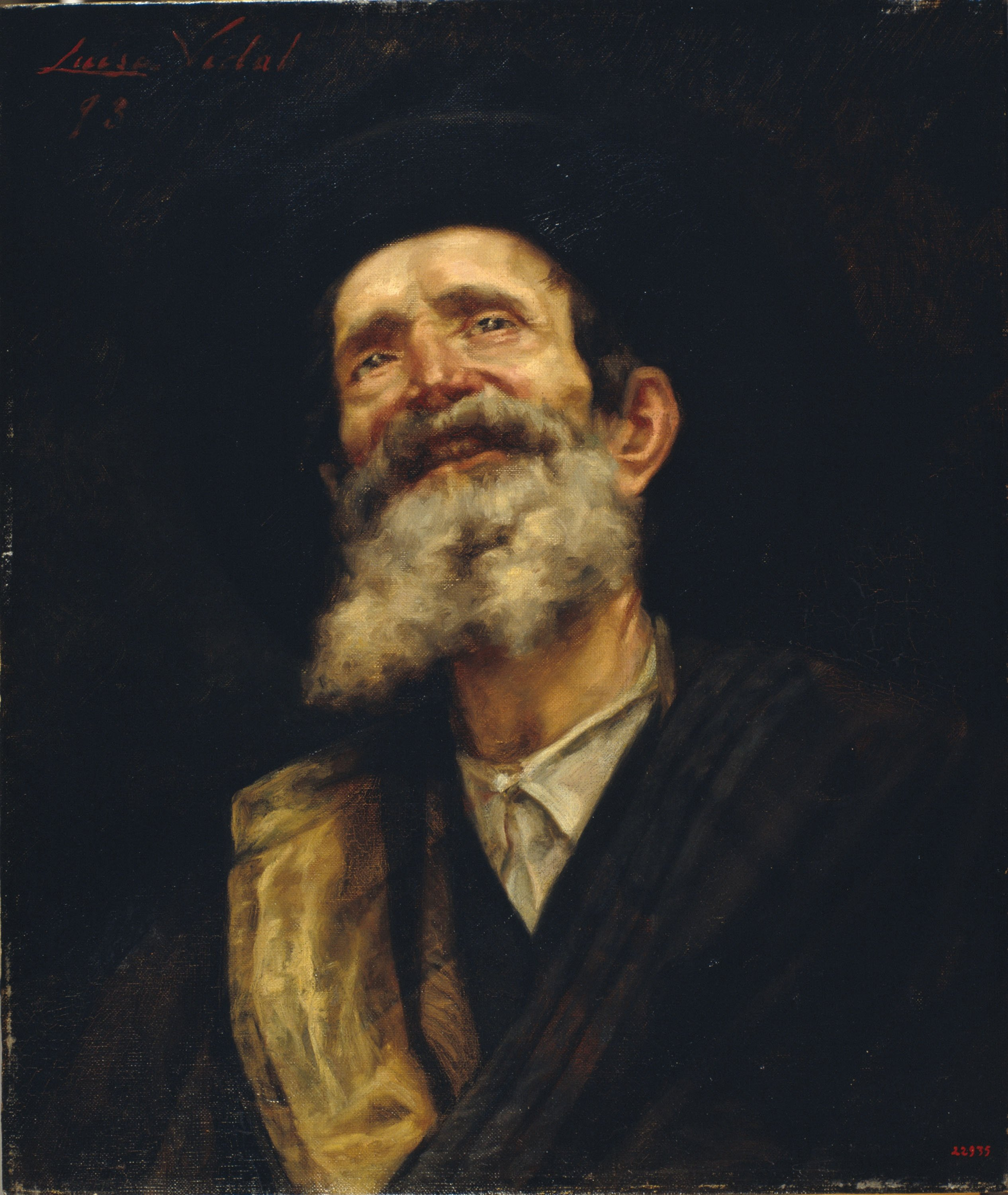 Lluïsa Vidal - Portrait of an Old Man - 1893