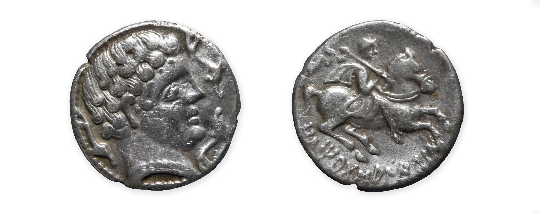 Ausesken - Denari d'Ausesken - Segona meitat del segle II aC
