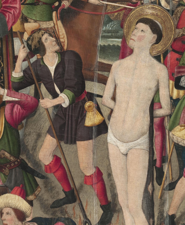 Sant Vicenç a la foguera, Jaume Huguet