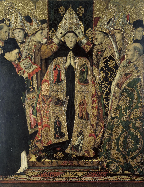 Jaume Huguet - Consagració de sant Agustí - Cap a 1463-1470/1475