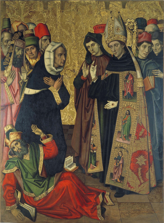 Grup Vergós - Sant Agustí discutint amb els heretges - Cap a 1470/1475-1486