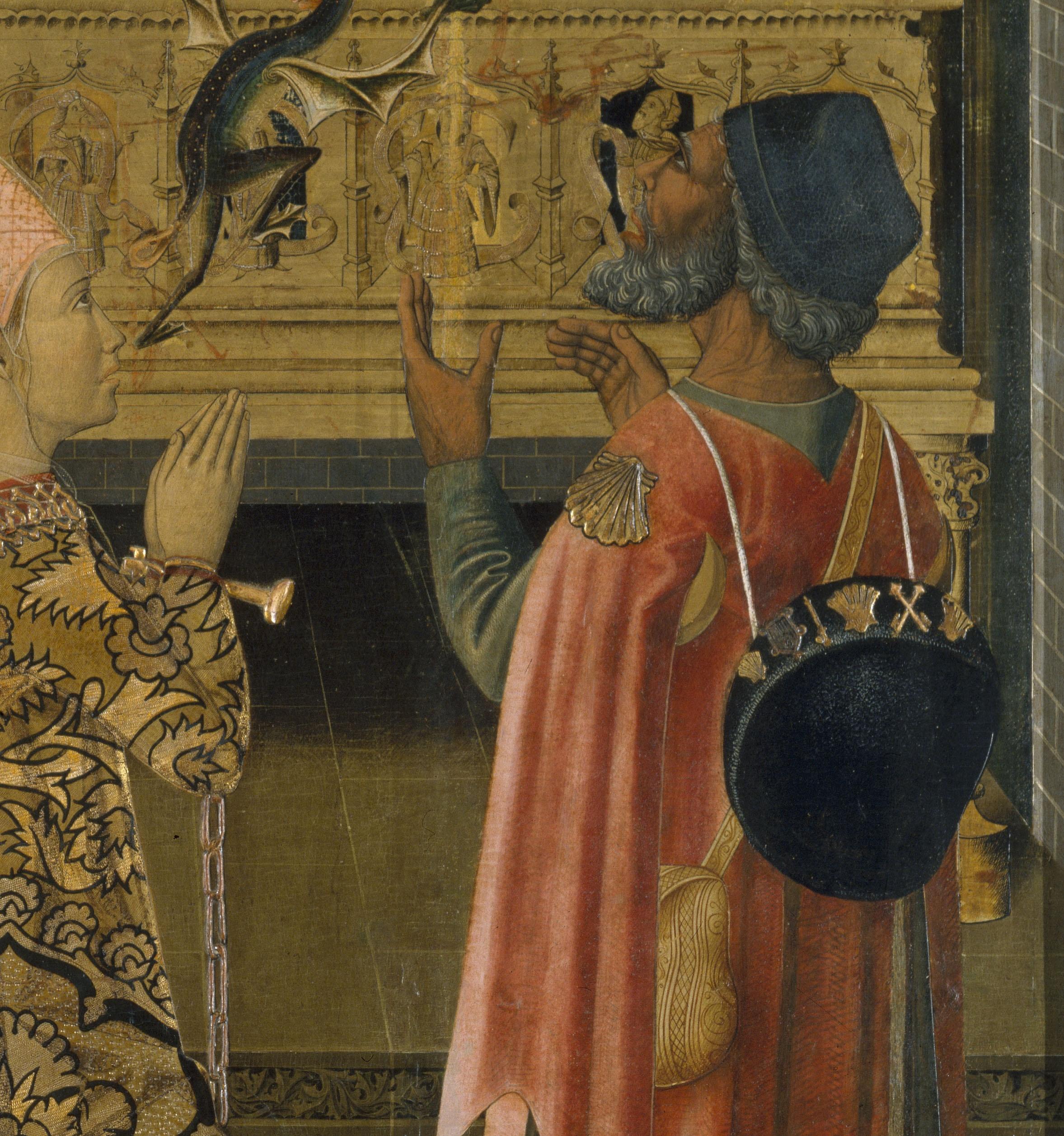 La princesa Eudoxia davant la tomba de Sant Esteve, Grup dels Vergós