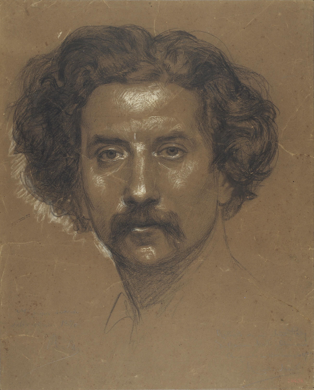 Ramon Martí i Alsina - Autoretrat - Cap a 1875