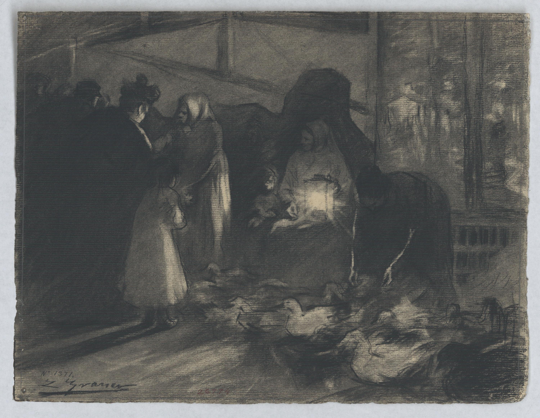 Lluís Graner - Fira d'aviram - 1896