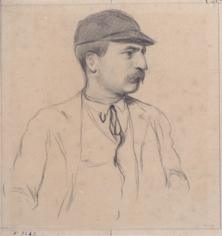 Santiago Rusiñol - Retrat de Genís Muntaner - Cap a 1895-1897