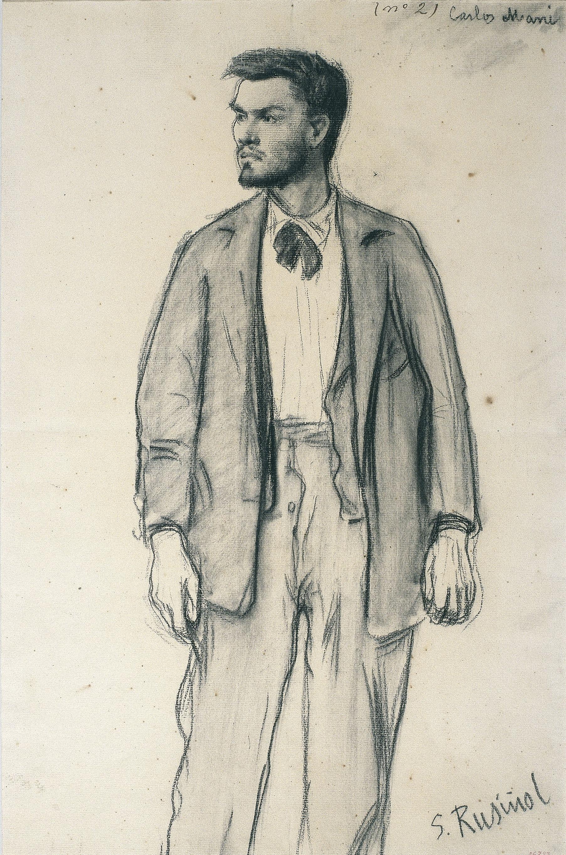 Santiago Rusiñol - Retrat de Carles Mani - 1895