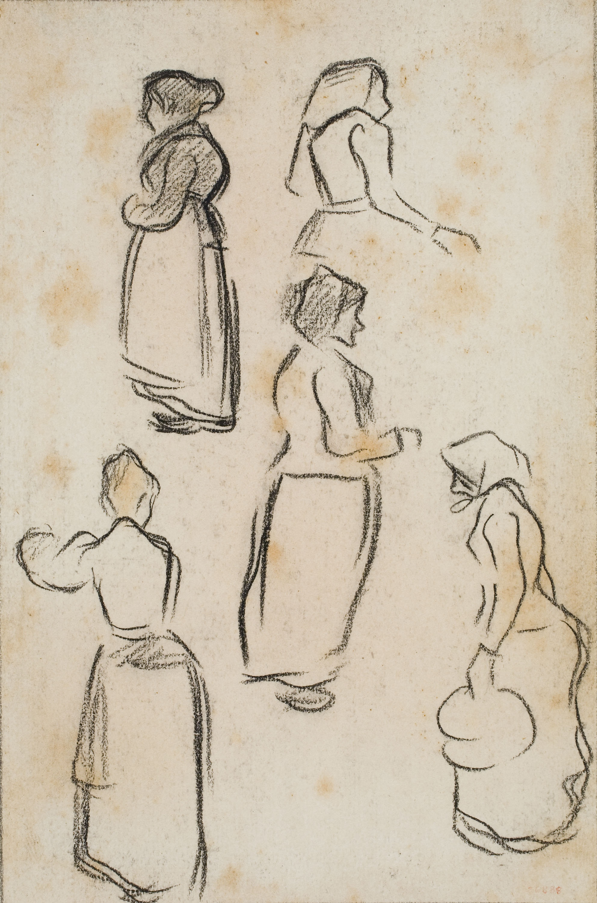 Isidre Nonell - Sketch of women - Circa 1892-1894