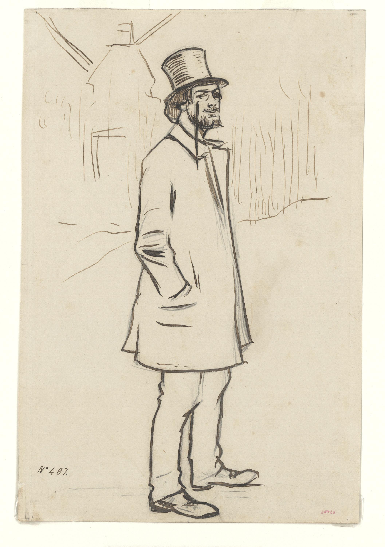 Ramon Casas - Estudio para el cuadro «Retrato de Erik Satie» - Hacia 1891