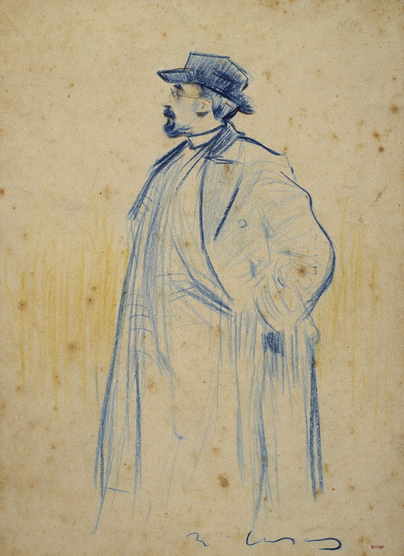 Ramon Casas - Portrait of Torquat Tasso - Before 1897